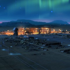 Boneyard Northern Lights - Deserts of Kharak - Concept Art