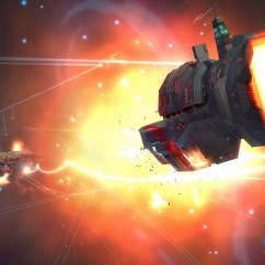 Homeworld Remastered - Screenshot - Torpedo Frigate in Battle - Gearbox