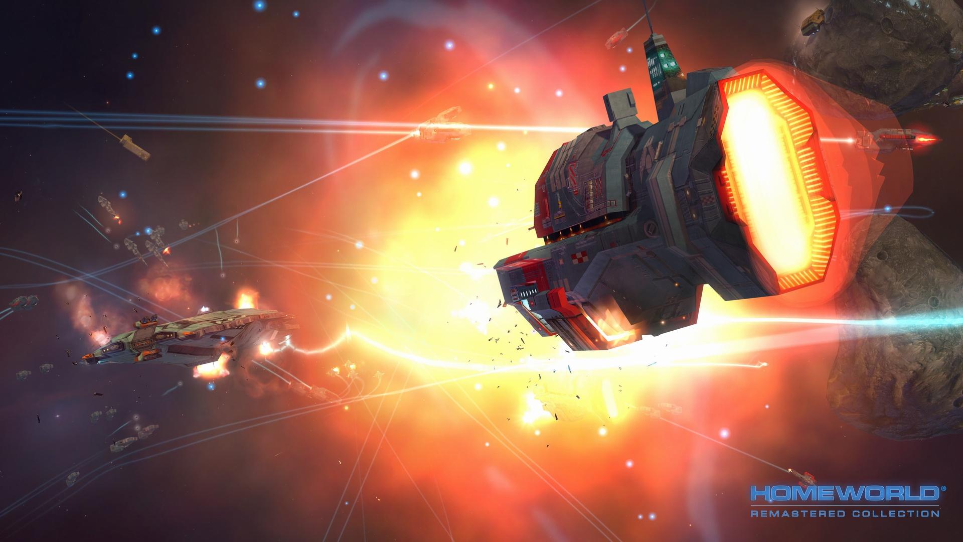 Homeworld Remastered - Screenshot - Torpedo Frigate in Battle - Gearbox