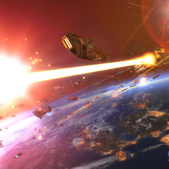 Homeworld Remastered - Screenshot - Vaygr Cruiser Battle - Gearbox