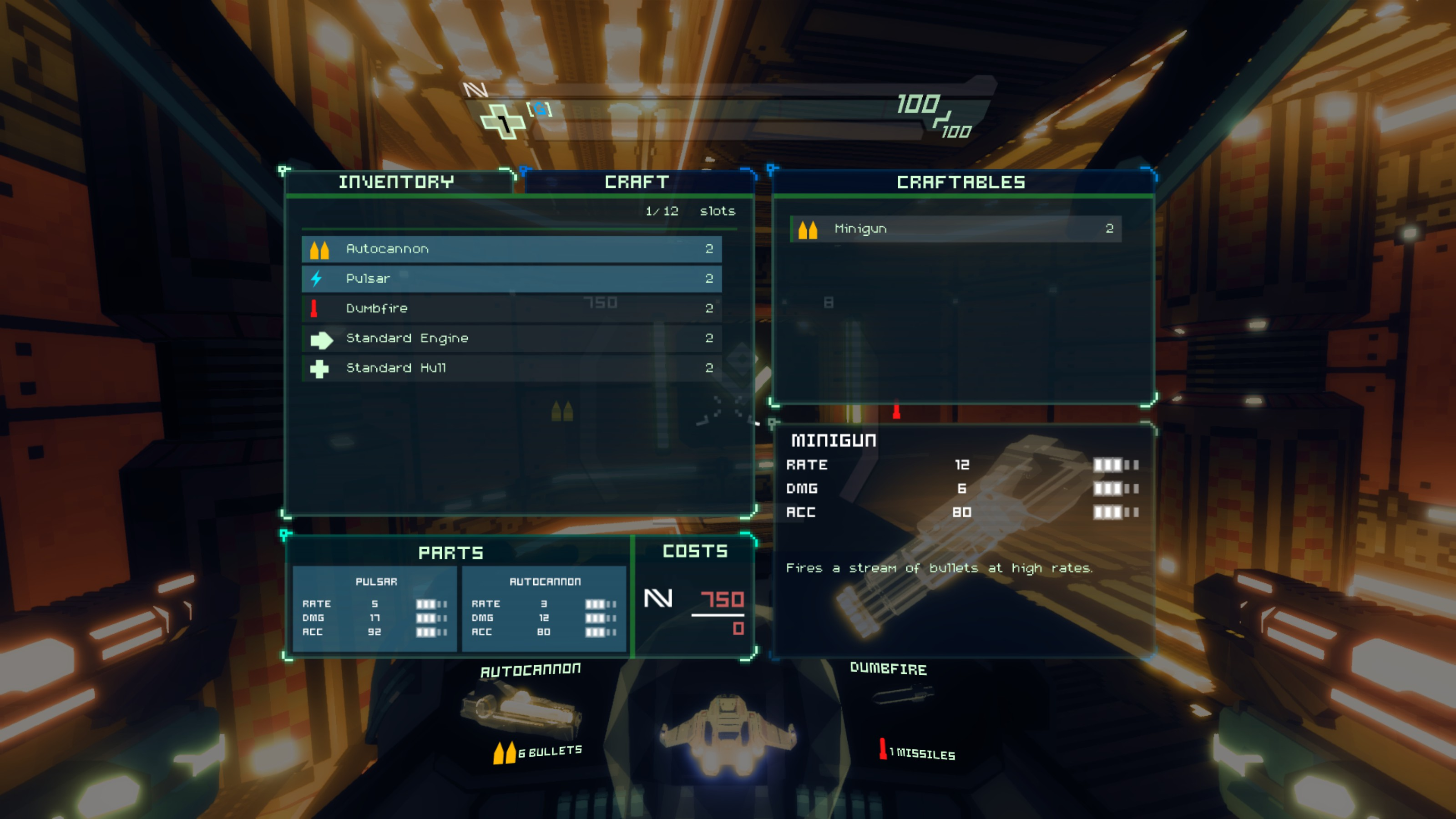 Sublevel Zero Screenshot - Crafting Menu - Fists of Heaven