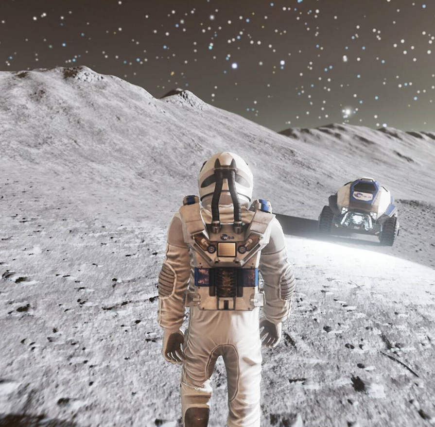 Deliver Us The Moon Screenshot - Astronaut and Rover