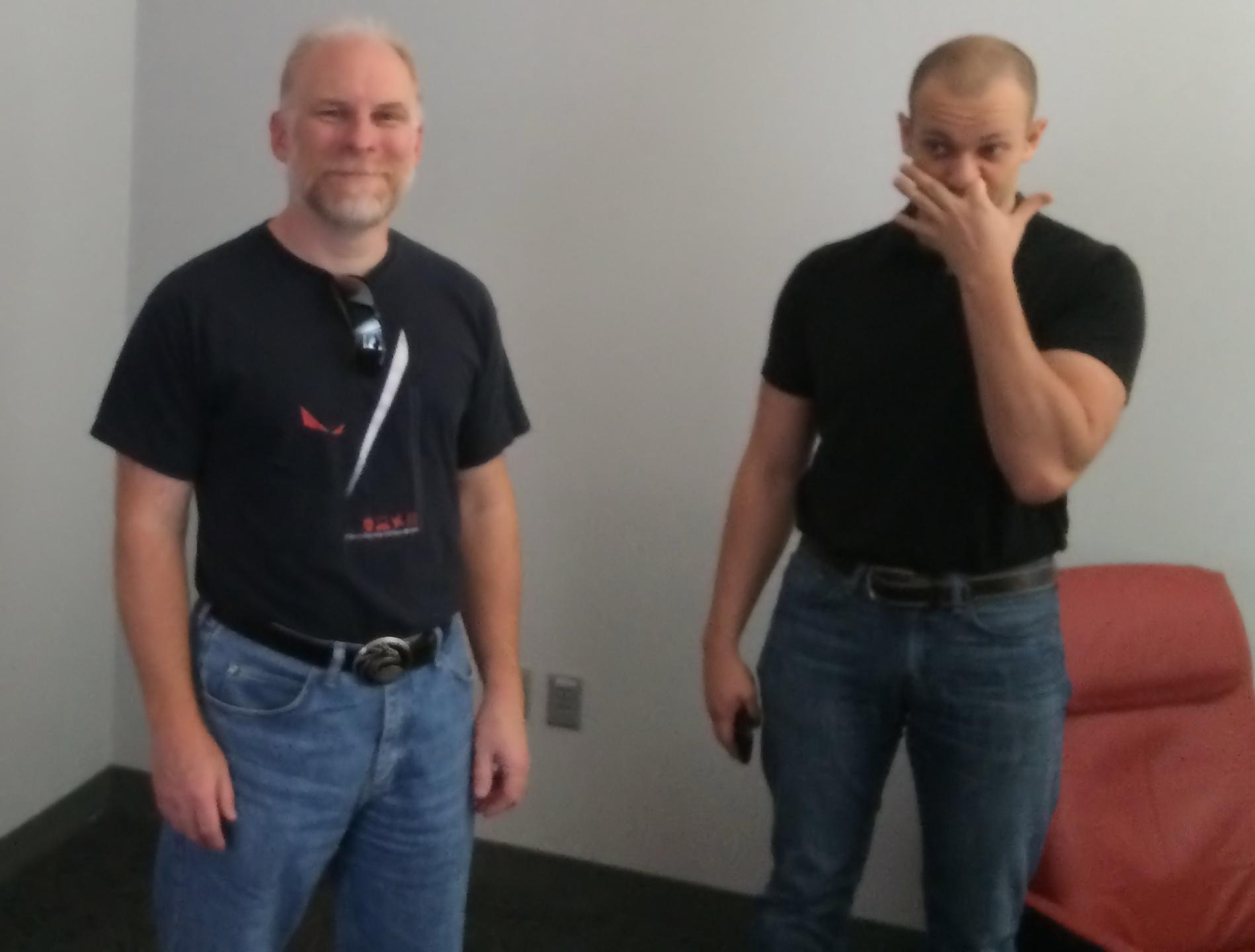 Gearbox Homeworld Team - Patrick Dupree and Jonathan Fawcett Pic