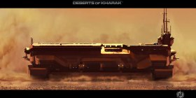 Homeworld Deserts of Kharak Kapisi Carrier Wallpaper