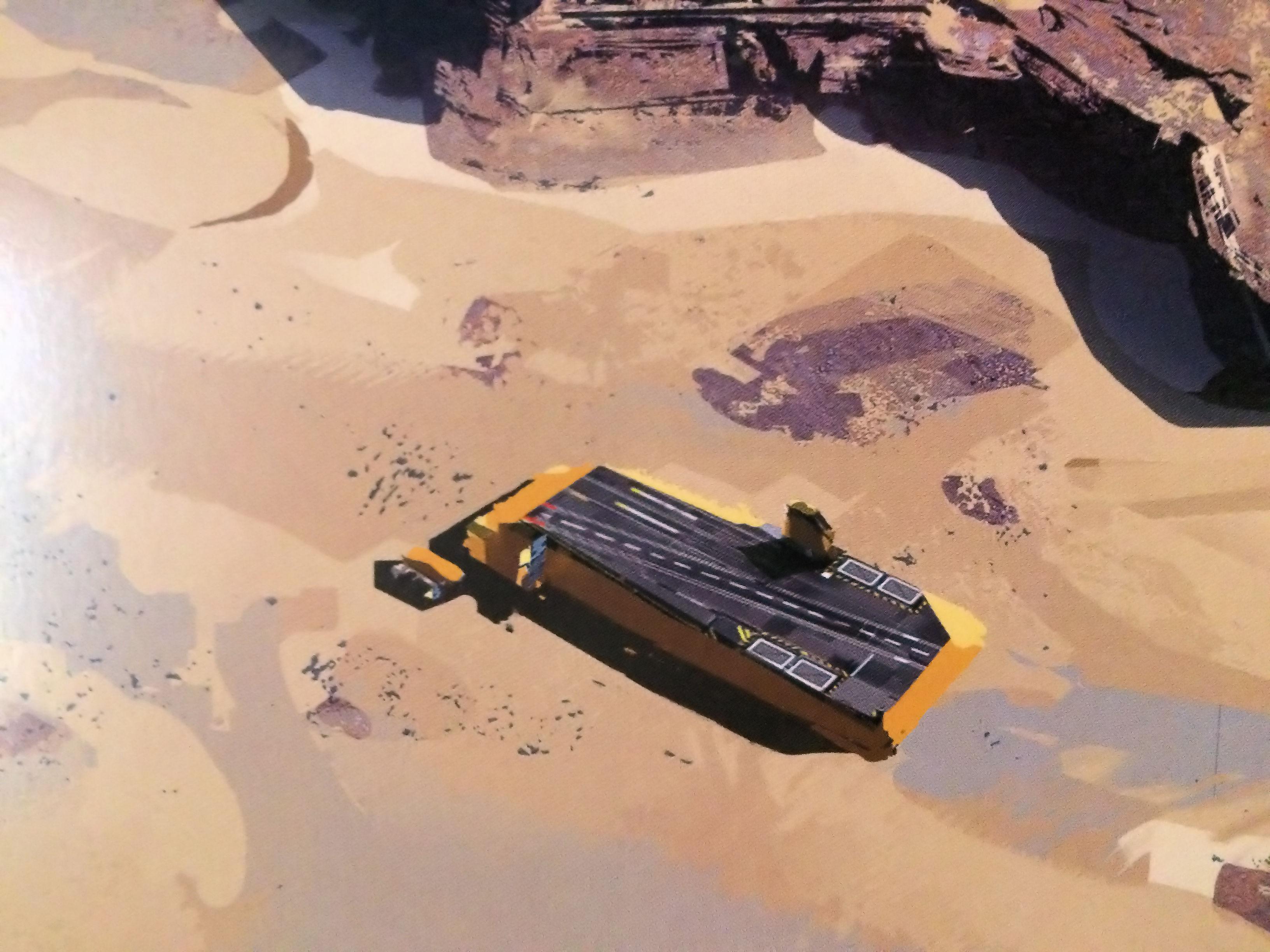 Homeworld Deserts of Kharak Collector's Edition Concept Art - Coalition Carrier