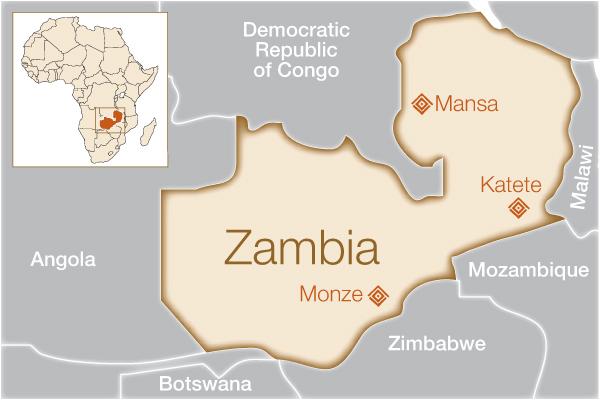 Zambia Where We Help Fistula Foundation - Where is zambia