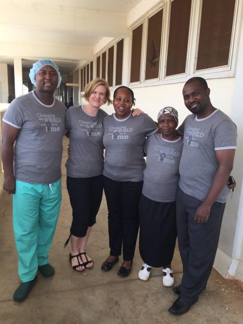 The fistula care team at Kilimanjaro Christian Medical Centre in Tanzania