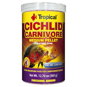 Tropical cichlid carnivore pellet