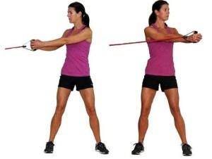 trazioni laterali con elastico