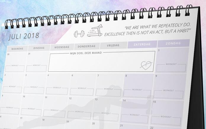 motivatie kalender juli