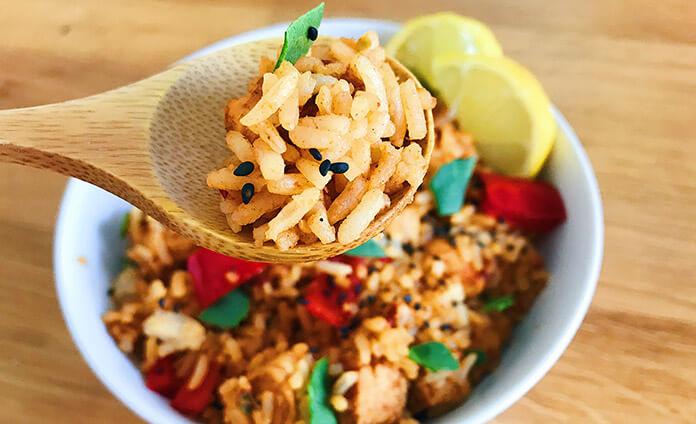 vegetarische kruidige rijst