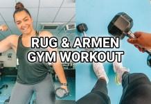 rug en armen workout