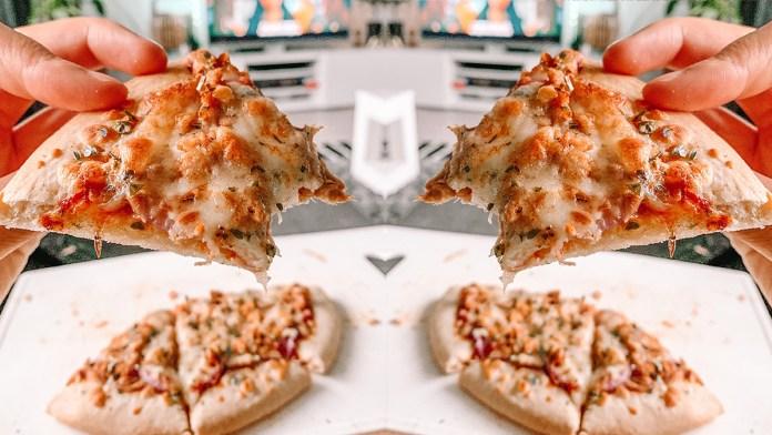 gezondere tuna melt pizza