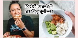 poke lunch matige pizza