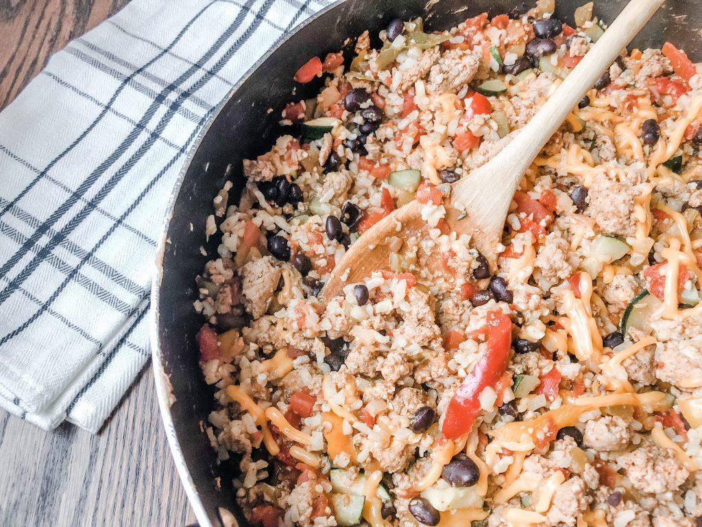 ground turkey taco skillet healthy dinner