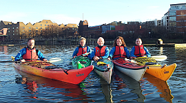 kayak beginners lesson at Shadwell Basin 270x150