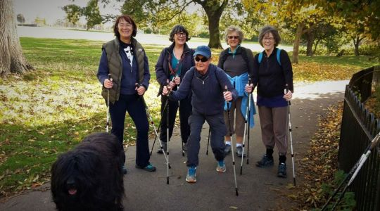 Nordic walking Brockwell Park