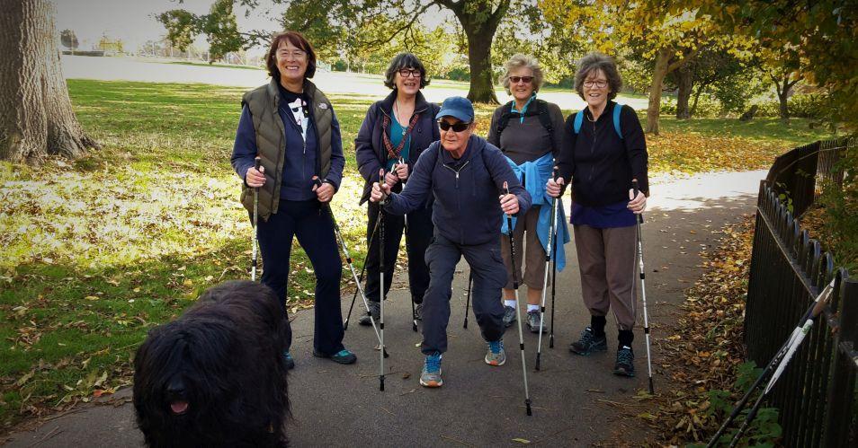 Nordic walking Brockwell Park