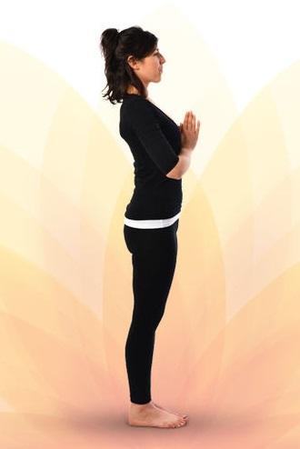 Surya Namaskar Prayer Pose