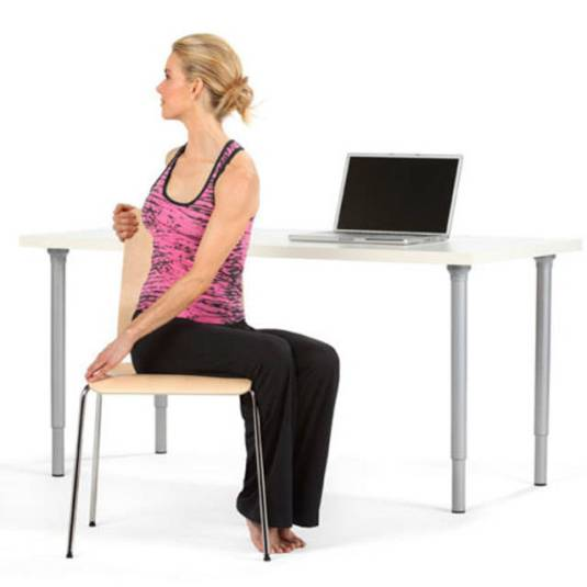Office exercises- Spinal Twist