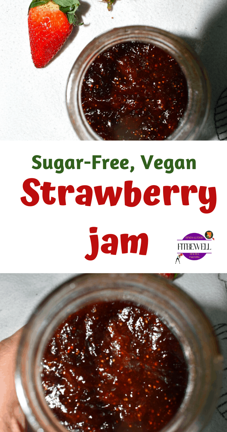 Healthy No-pectin Sugar-free Strawberry jam recipe