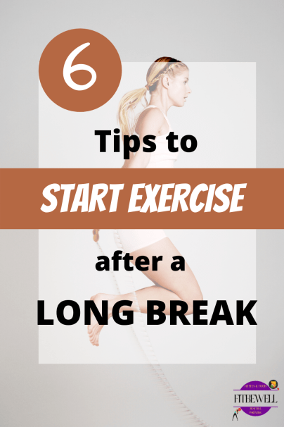 6 tips to start exercise after a break or injury