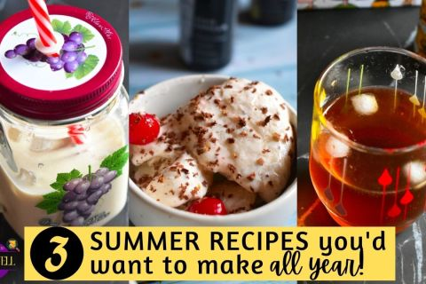 Healthy summer recipes with cold brew coffee