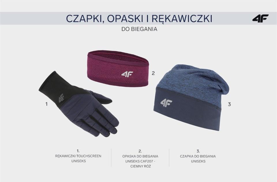 prezent dla biegacza czapka opaska do biegania rękawiczki