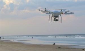 Drone over beach