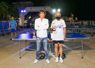 Foto 3 Tappa Ping Pong Tour 2021 di Arma di Taggia il vicepres vicario federale Carlo Borella con Armando Torregrossa