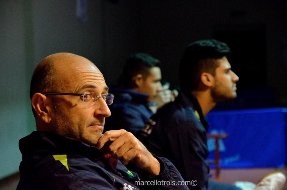 Sandro Poma in panca con Massarelli e Di Marino (Foto Marcello Trois)