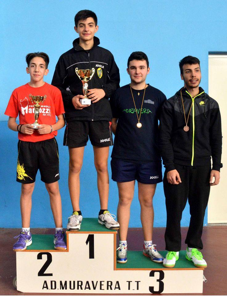 Il podio dei quarta maschili (Foto Luciano Saiu)