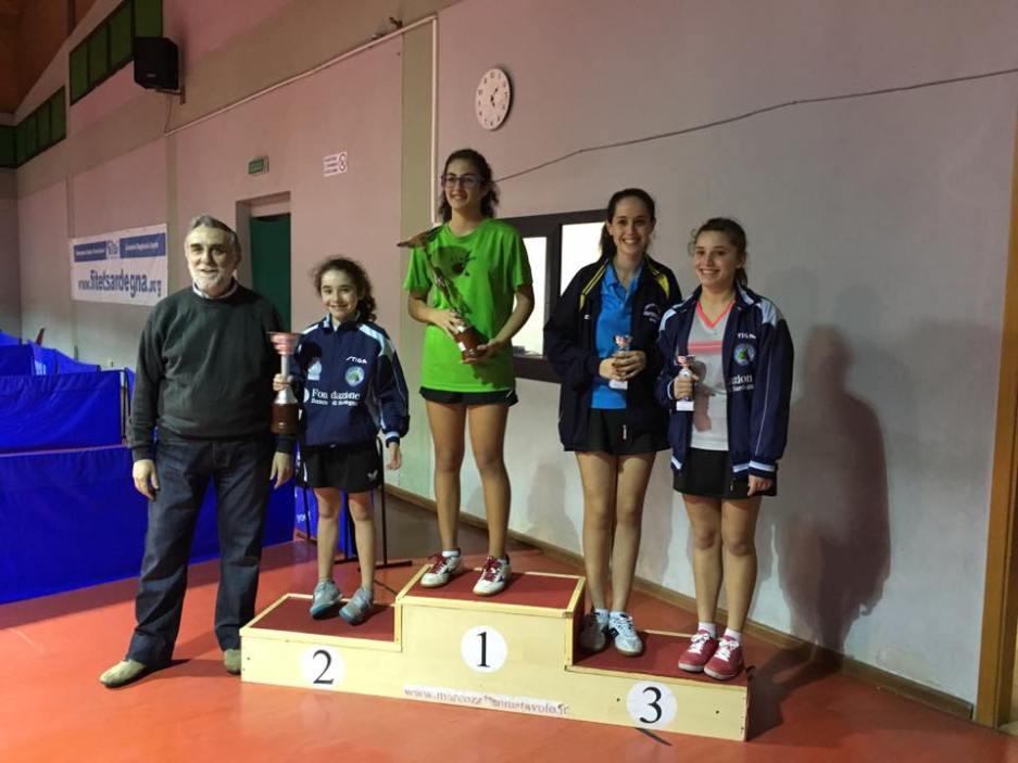 Il podio dei quinta femminili (Foto Santa Tecla Nulvi)