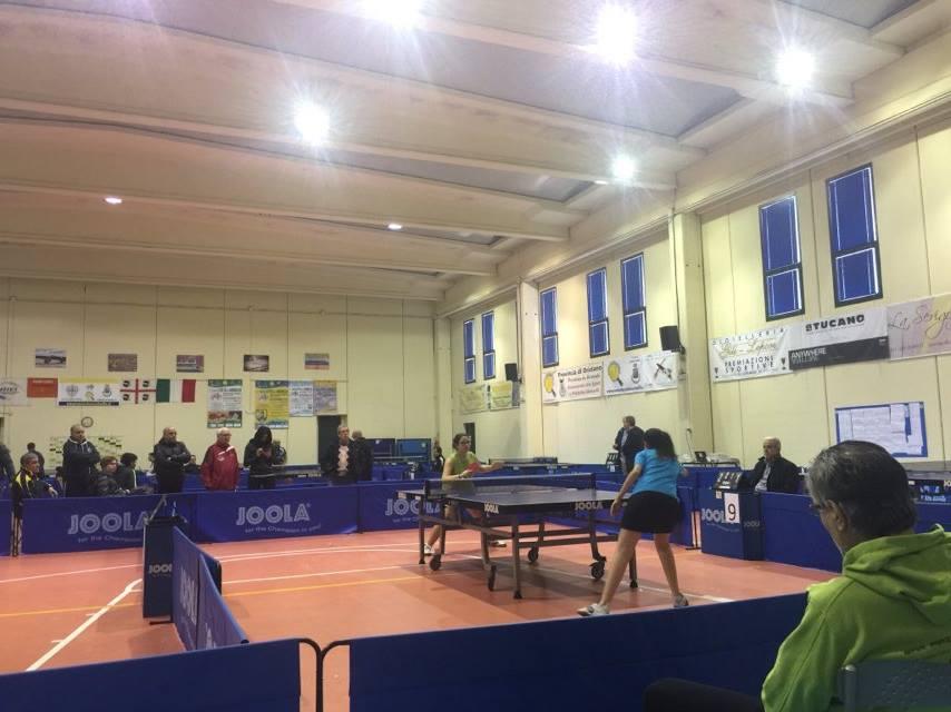 Una fase della finale femminile (Foto La Saetta)