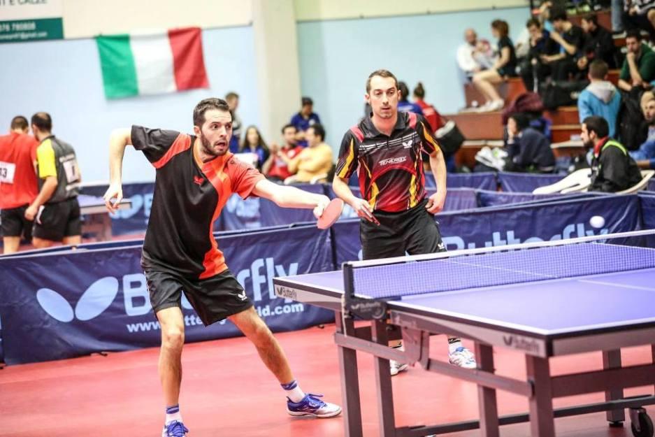 a dx Stefano Tomasi in doppio con Mattia Crotti (Foto Fitet)