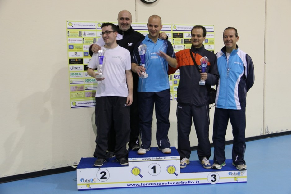 Il podio dei terza maschili (Foto Gianluca Piu)