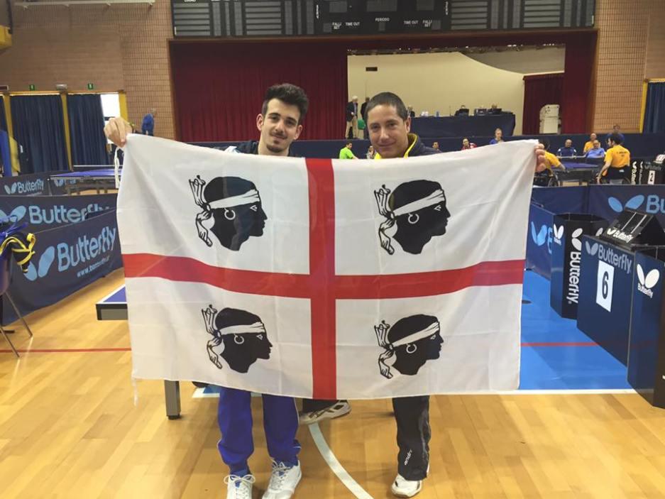 Luca Paganelli e Andrea Manis durante gli Italiani Paralimpici a Lignano