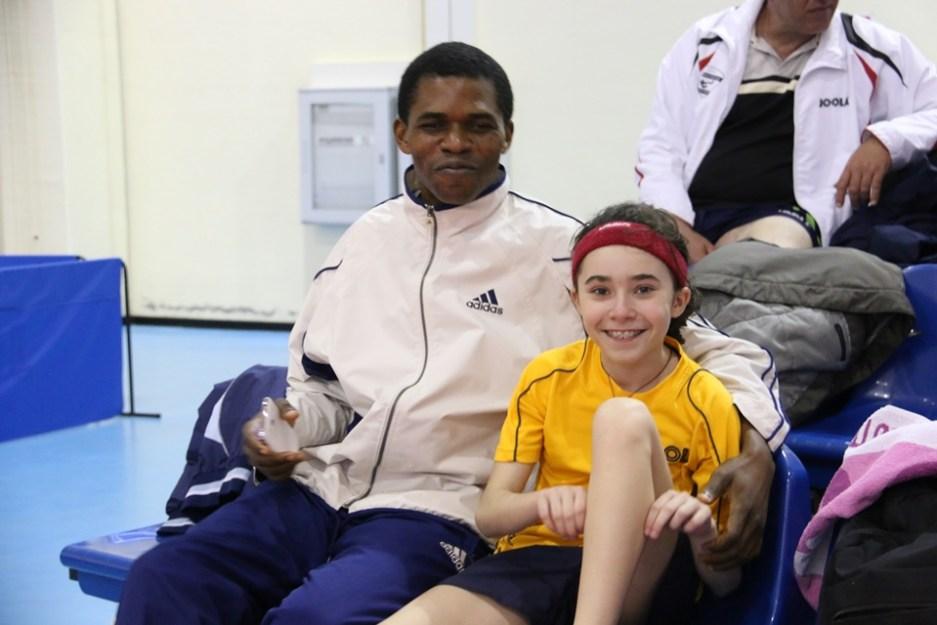 Rossana Ferciug con il suo allenatore (Foto Gianluca Piu)