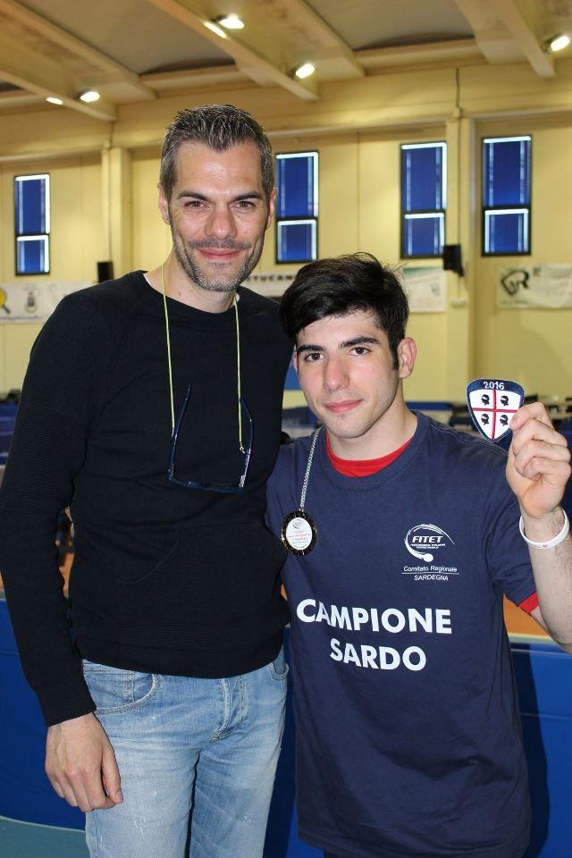 a dx Romano Monni con il presidente Carrucciu (Foto Eleonora Piras)