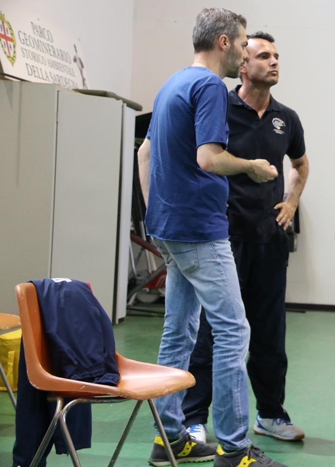 Il presidente Carrucciu con il consigliere Gianluca Mattana (Foto Gianluca Piu)
