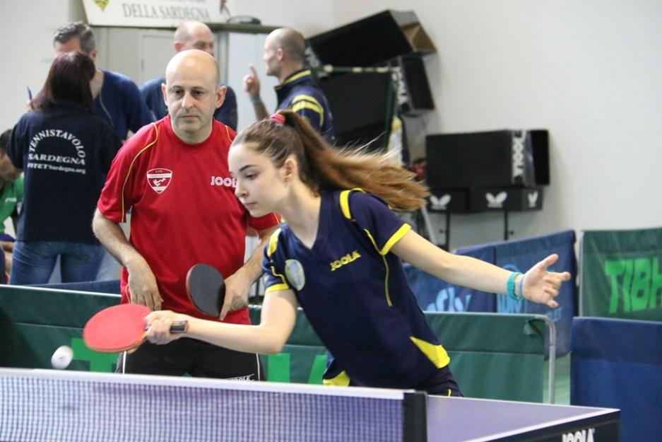 A sx Riccardo Lisci in doppio con Serena Anedda (Foto Gianluca Piu)