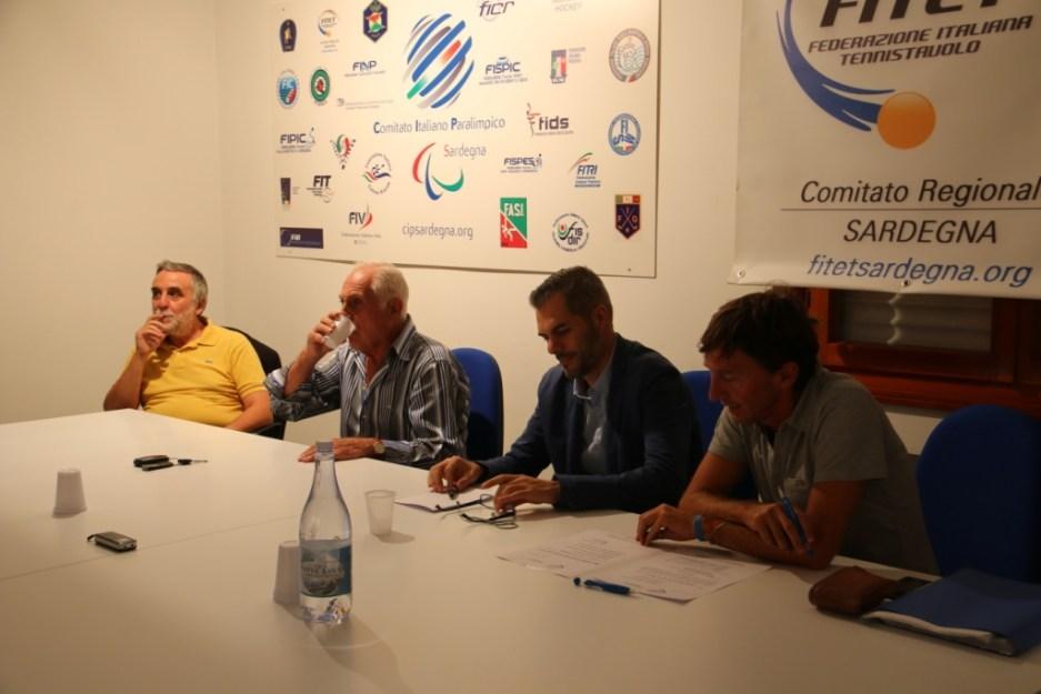 da sx Curcio, Fara, Carrucciu e Borella (Foto Gianluca Piu)