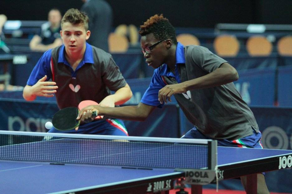 Matteo Gualdi e Johnny Oyebode (Foto ITTF)