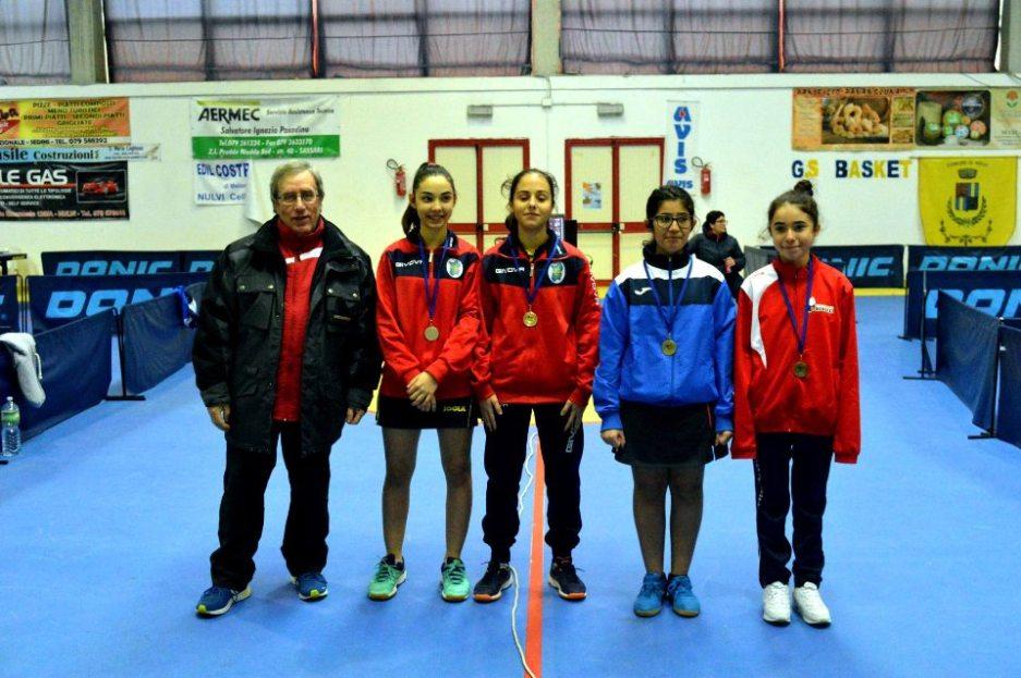 Il podio Ragazzi femminile (Foto Luciano Saiu)