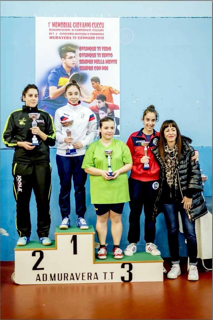 Il podio Quarta femminile (Foto Luciano Saiu)