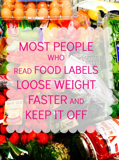 Loose weight faster by reading food labels