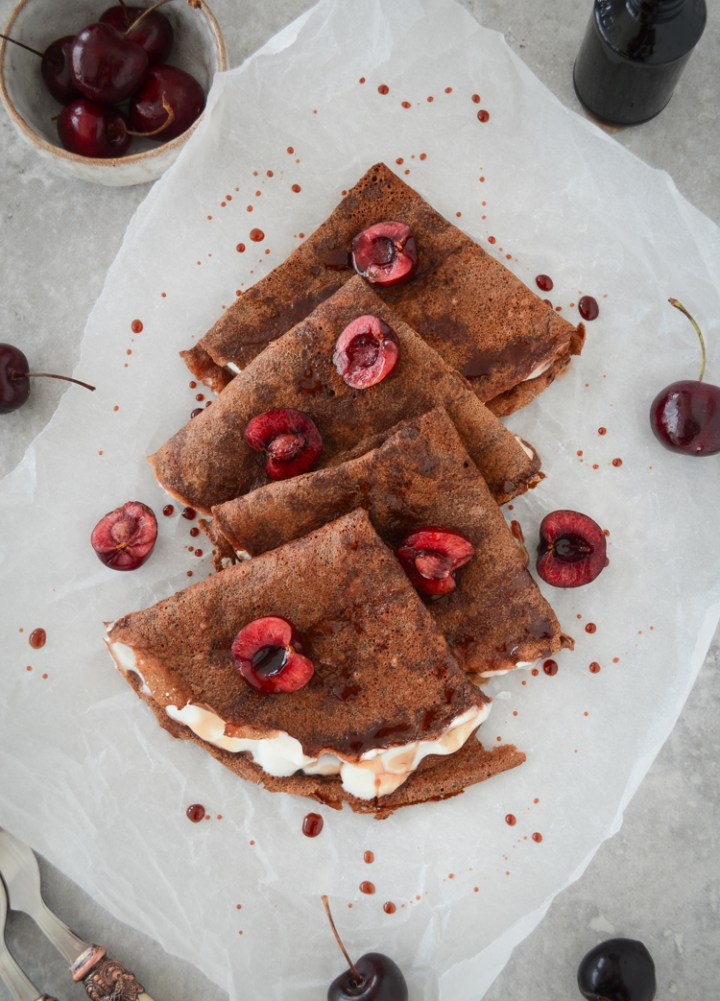 Chocolate crepes #glutenfree #dairyfree #crepes #chocolate #healthy #cleanrecipes