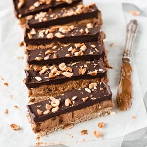 Vegan Peanut & Caramel bars