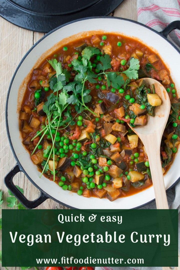 Easy Vegan Vegetable Curry - Fit Foodie Nutter
