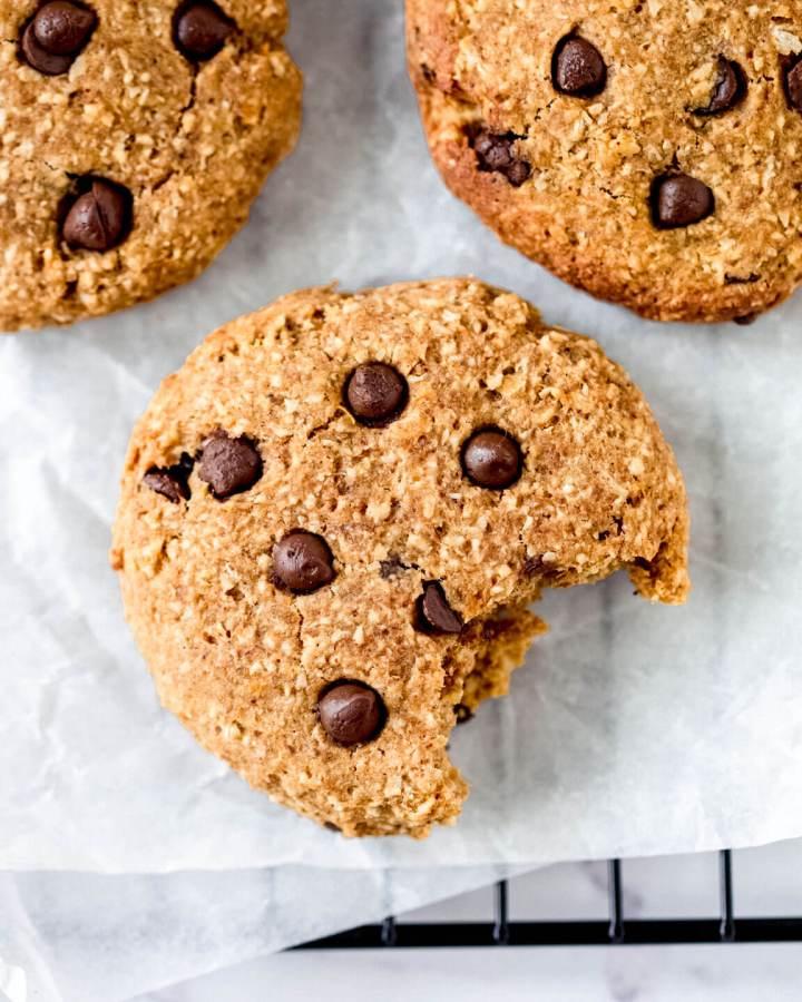 Top down view of pumpkin & chocolate chip cookie – Fit Foodie Nutter